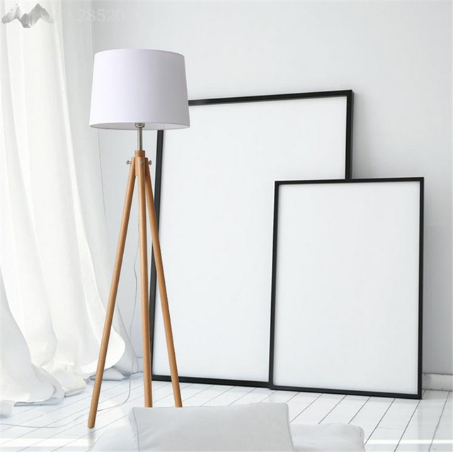 Modern nordic wooden floor lamps wood fabric lampshade tripod floor modern nordic wooden floor lamps wood fabric lampshade tripod floor lamps for living room bedroom indoor aloadofball Choice Image