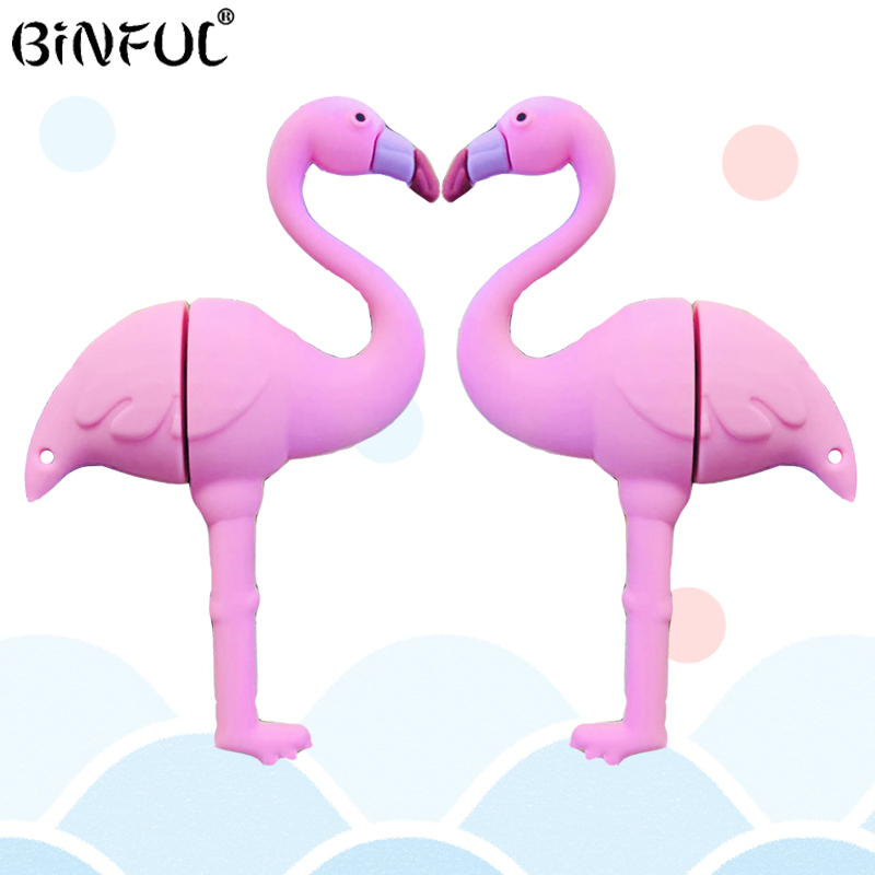 2019 New Fashion Usb Flash Drive Flamingo Pendrive 4gb 8gb 16gb 32gb 64gb Flash Memory Stick Usb Disk Pendrive Girl Gift Cle Usb
