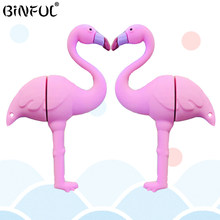 2019 Baru Fashion USB Flash Drive Flamingo Flashdisk 4 GB 8 Gb 16 GB 32 GB 64 GB Memori Flash STICK USB Disk Flashdisk Gadis Hadiah CLE USB(China)