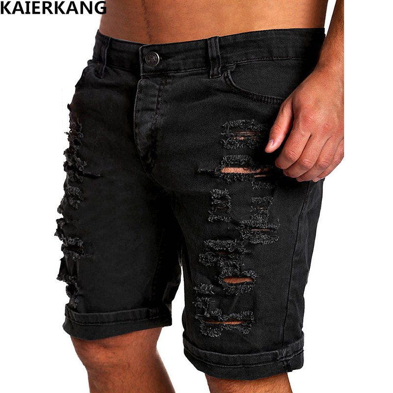 MenS Shorts Cotton Brand 2017 Spring Summer New Hole Denim Shorts Fashion Design Mens Popular Fashion Element Slim brand Shorts ...