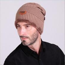 2016 Brand knitted hats for men Winter Hat Capo Skullies Men Women Wool Baggy Leather Warm Beanie Hat Point