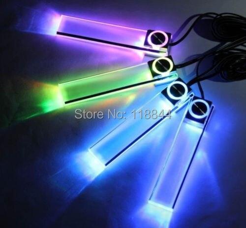 4 LED color Navidad auto car interior tablero pie Decoración Luz lámpara Mecheros para Chevrolet Cruze Mazda Ford