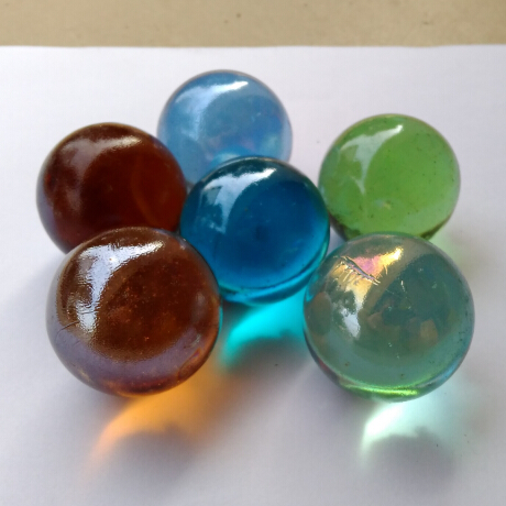 4 Glass Marbles Cobalt Blue 35 mm