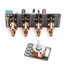 KYYSLB AC Çift 12V VEYA DC12V Amplifikatör Şasi Sinyal Seçimi anahtarlama paneli Ses Kaynağı Sinyal Anahtarlama Röle Bant RCA