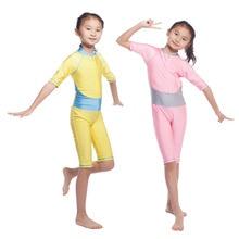 Muslim swimwear Islamic Swimsuit children traditional clothing for kids Turkish Arab Dubai Indonesia girls maillot hw20A