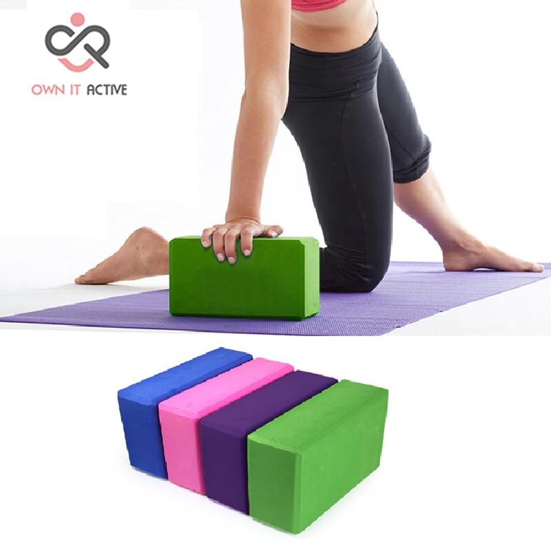 EVA Yoga blokları kərpic köpüklənən köpük üçün ev məşqləri idman sağlamlığı idman zalı təcrübəsi vasitəsi 23 * 15 * 7.5 M021