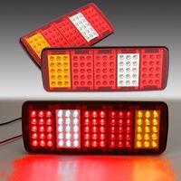 2PCS 12V TRAILER TRUCK CARAVAN REAR TAIL LIGHT LAMP BRAKE STOP SIDE INDICATOR