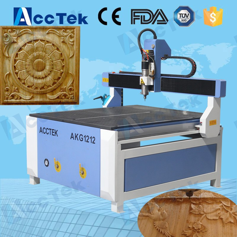 Small Wood Craft Carving Cnc Router Machine AKG1212 Cnc Engraving Machine For 3d Carve