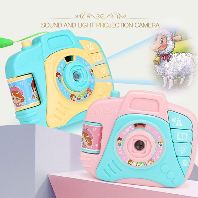Cartoon Camera Toy Baby Projection Nursery Toys Gift Children Educational Genuine For Kids Slide