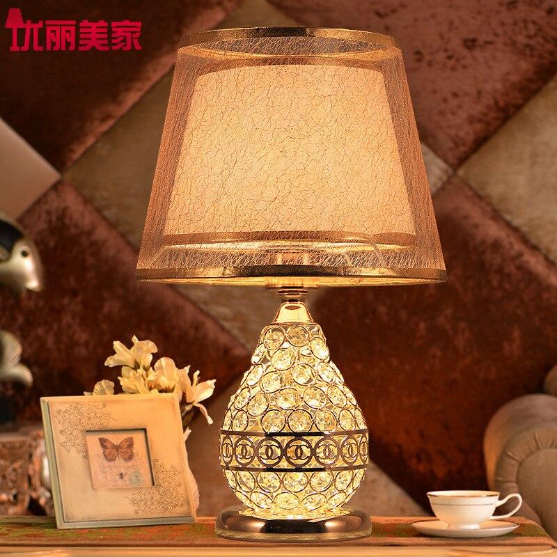 YOOK 26*41 см красивый кристалл настольная лампа модный роскошный Творческий Настольная лампа Свадебные исследование Спальня настольная лампа...