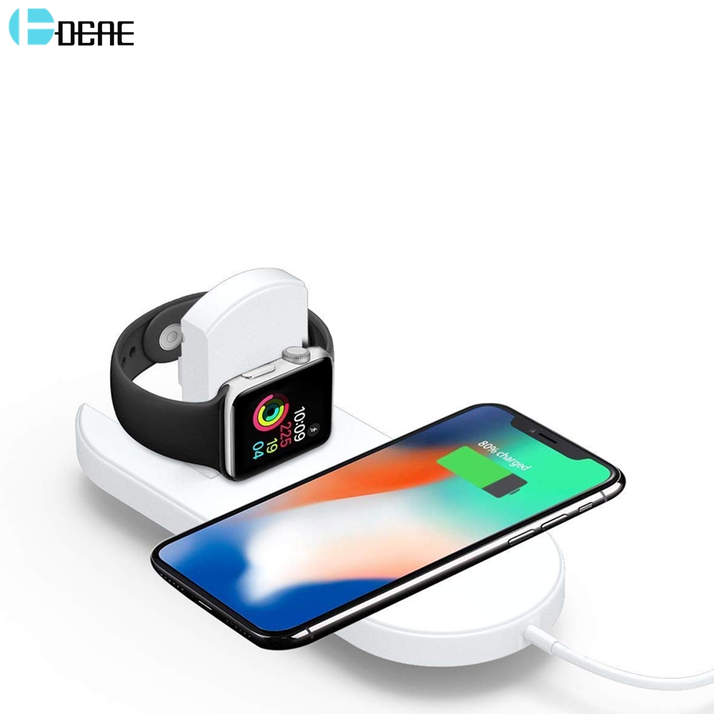 DCAE For iWatch 4 3 2 QI Wireless Charger For iPhone X 8 XS Max XR Quick 10W Fast Charging Pad For Apple Watch For Sumsang S9 S8DCAE For iWatch 4 3 2 QI Wireless Charger For iPhone X 8 XS Max XR Quick 10W Fast Charging Pad For Apple Watch For Sumsang S9 S8