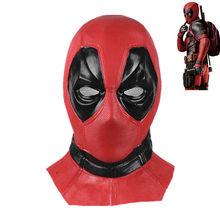 Película deadpool 2 látex máscara de cara completa máscaras Cosplay deadpool  traje accesorios Halloween(China e336f275e498