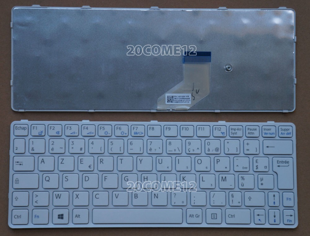 New notebook Laptop keyboard for sony VAIO E11 SVE11 SVE 11 SVE1111M1E  FR / french  layout russian ru keyboard for sony vaio sve15 sve 15 sve 15 white keyboard with frame