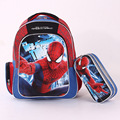 2016 New 3D Red Spiderman Students School Bags Waterproof Cartoon Backpacks Boy School Backpack Bags For Class 1-6
