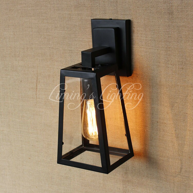 Outdoor balcony American Country Nordic Loft Industrial Garden Corridor Lamp Bedroom Decorative Wall Lamp Hallway Light