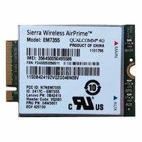 SIERRA EM7355 04W3801 GOBI5000 4G LTE PCIe Module 100M WWAN WiFi Card for Lenovo THINKPAD X1 X240 W540 T440P T431S L440