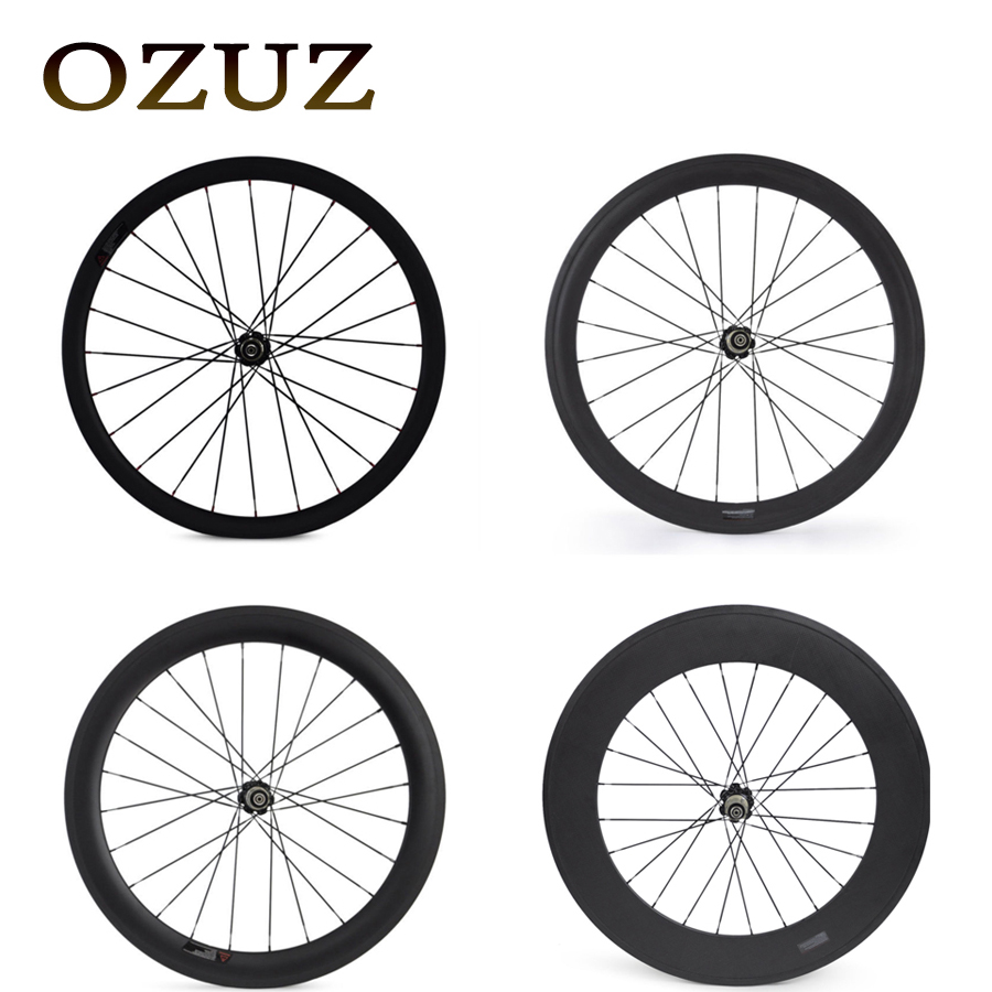 Novatec 372 Hub OZUZ 700C 24mm 38mm 50mm 60mm 88mm Clincher Tubular Road Bike Bicycle Carbon Wheels Racing Only Rear Wheel carbon road wheel ceramic bike hub 700c 88mm clincher racing wheel wholesale carbon road racing wheel