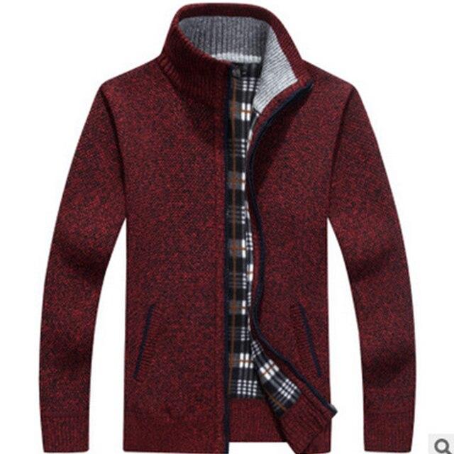 Cardigan men jacket cashmere+wool sweater Men 3