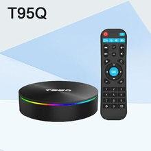 T95Q 4GB 64GB TV BOX Android 8.1 LPDDR4 Amlogic S905X2 Quad Core 2.4G&5GHz Dual Wifi BT4.1 1000M H.265 4K Media Player PK mi box