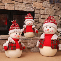 Exquisite Christmas Decorations for Home Christmas Snowman Dolls Market Hotel Bookstore Christmas Decorations New Year Decor