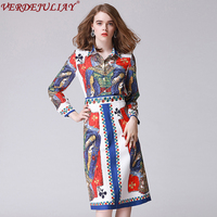 Ladies Playing Card Jacquard Twinsets 2018 Spring Fashion Turn Down Collar Single Breasted Top Print Beading