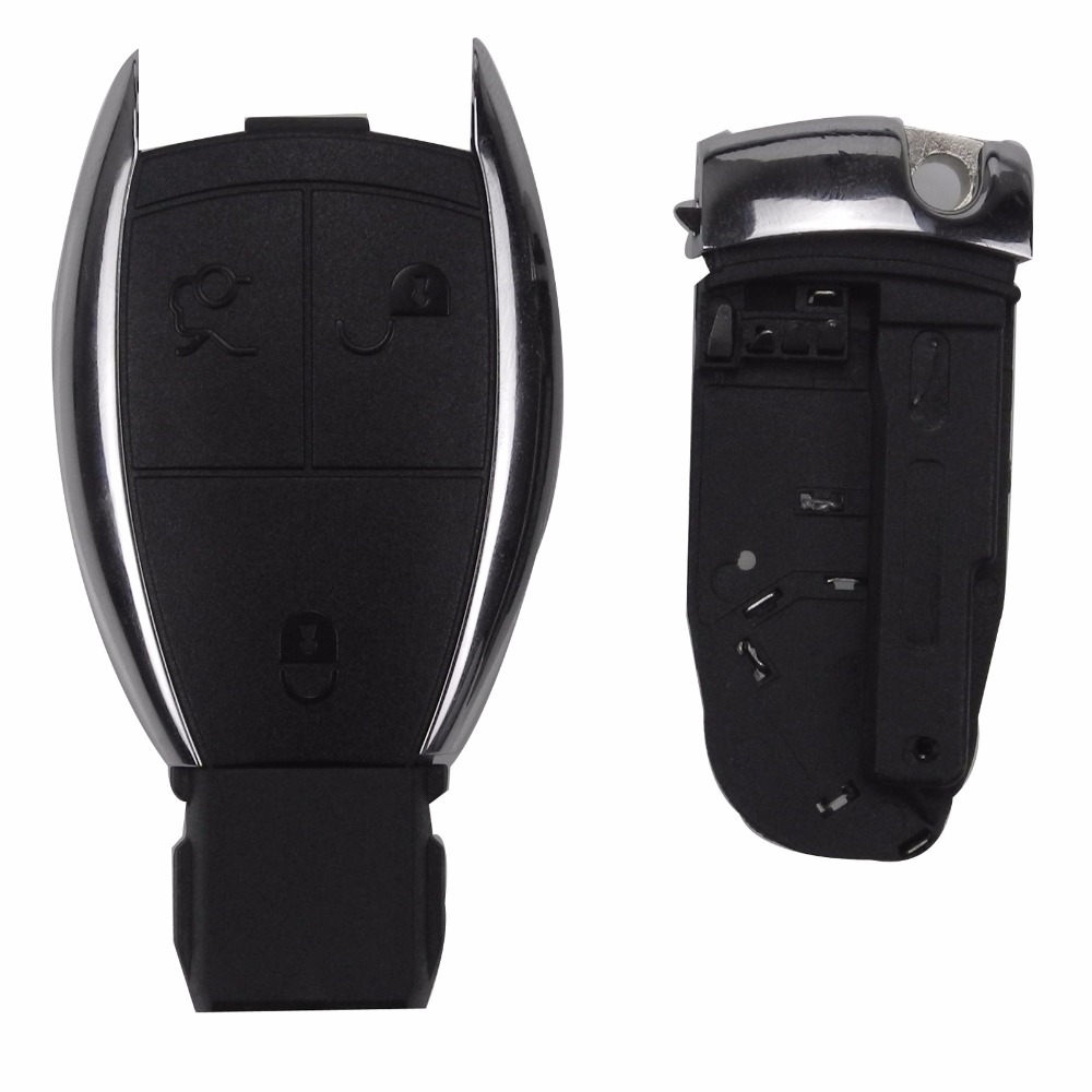 Jingyuqin With Battery 3 Buttons Remote Smart Key Case