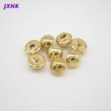 10pcs/lot 24L 15mm mushroom design metal Brass buttons for garment Vintage button to sew DIY accessories Gold/matte silver