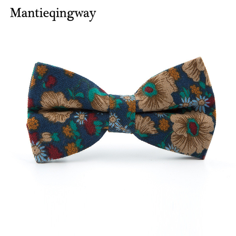 mantieqingway new brand cotton mens bowtie fashion vintage printed tie bowtie noeud papillon. Black Bedroom Furniture Sets. Home Design Ideas