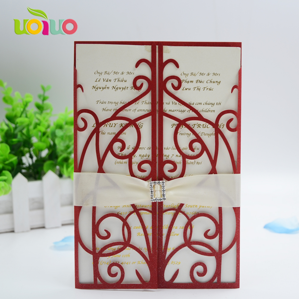 Cost Of Printing Wedding Invitations: Various Color Handmade Cheap Price Simple Wedding