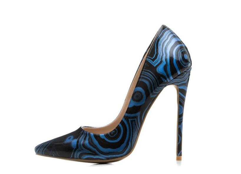 Moraima Snc hot selling sexy women pumps thin high heels shallow slip-on PU leather pointed toe mixed colors party shoes sexy lace blade heels pumps pointed toe red black mixed colors slip on wedding dress shoes women thin heels night club shoes