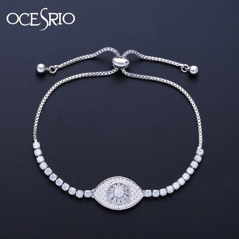 8613d4735f7 צמידים OCESRIO Turkey Evil Eye Bracelets for Women Gold Charms Bracelets  Femme Adjustable Turkish Fashion jewelry for Women brt-a39