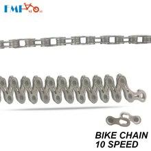 FMF Mountain Bike Chain 10S Speed 116 Link Ultralight Hollow EL Cykelkæde Silver Steel Road Cykeldele Til shimano system