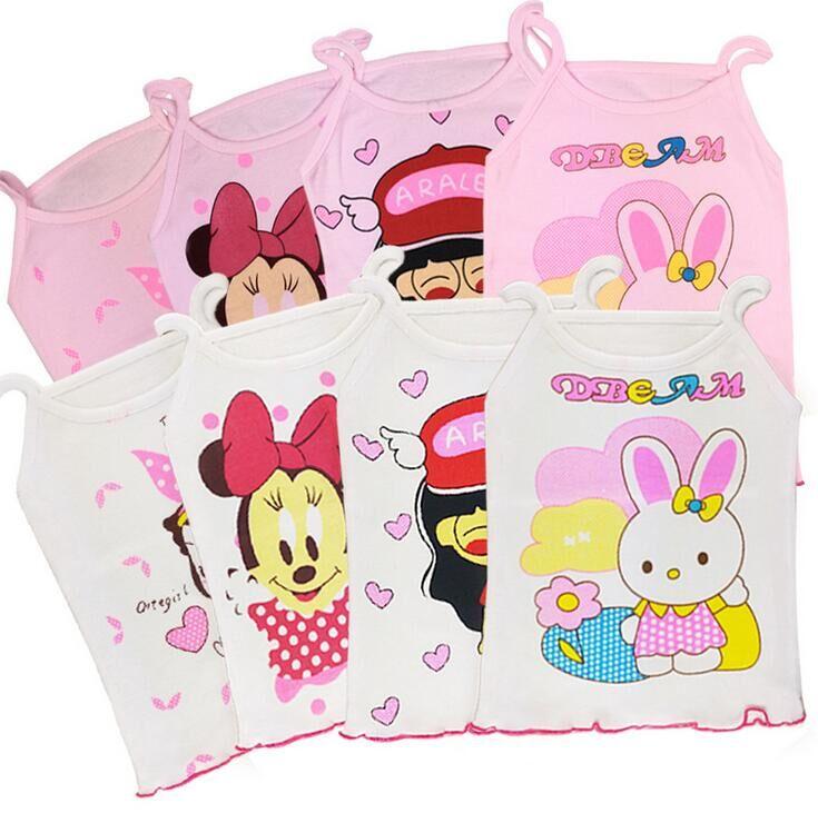 3 Teil/los Hohe Qualität Baumwolle Mädchen T-shirt Cartoon Mickey Sling T-shirt Baby Mädchen Sommer Tragen Kleidung 3 Stücke For3-5y Die Nieren NäHren Und Rheuma Lindern