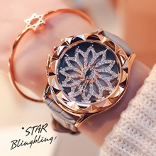2015 New Arrival Women Calendar Watches Luxury Rhinestone Quartz Watch Pink Color Dial Genuine Leather Wristwatches GUOU 8037 часы guou