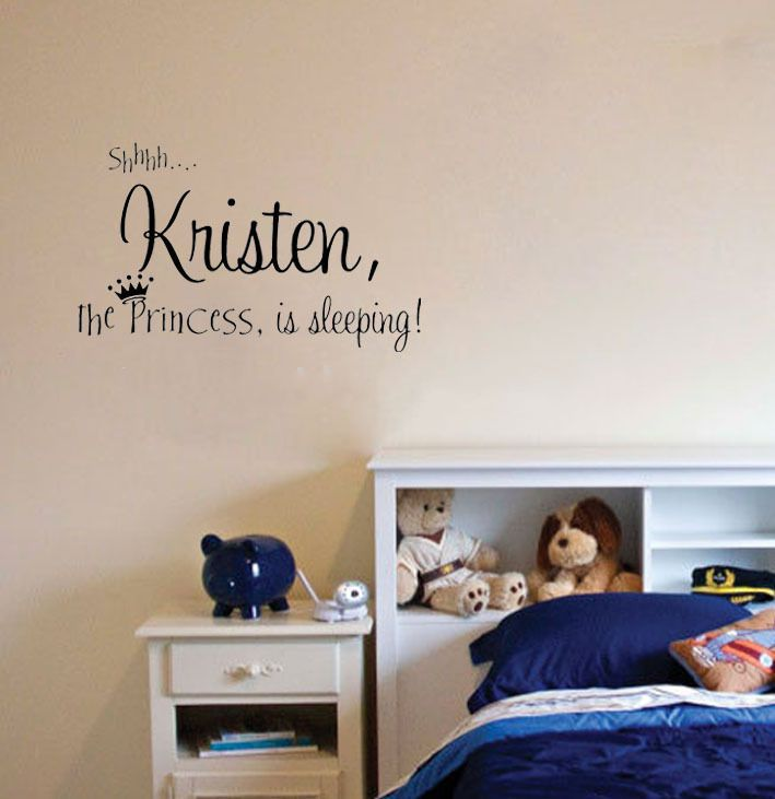 Personalized Princess Wall Stickers Name Decor For Your Home Wallpaper Vinyl Wall Decor Quote Kids Room