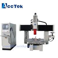 AccTek завод питания 5 оси 5D 4D 3D Дерево камень резки cnc router машина для мебели 1200*1200 мм