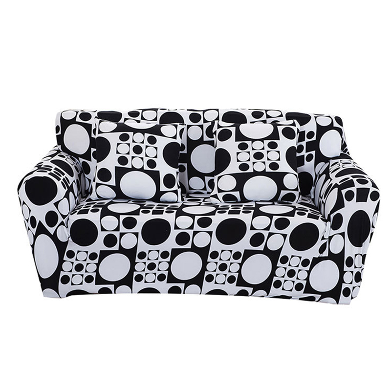 Black White Geometric Sofa Cover Big Elasticity Couch Cover Loveseat Machine Slip resistant Drawing Room Decorate