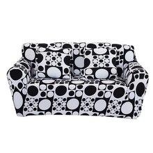 Schwarz Weiß Geometrische Sofabezug Große Elastizität Couch Abdeckung Sofa Maschine rutschfeste Salon Schmücken Anti Milbe