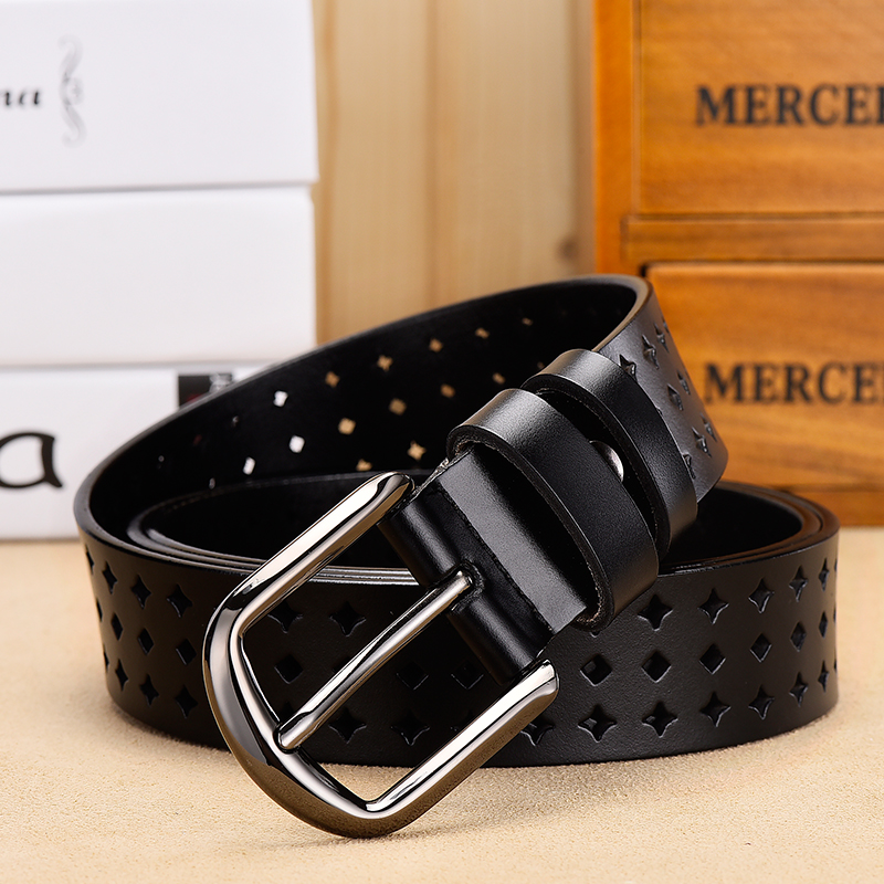 [DWTS] women   belts   cow genuine leather good quality alloy   belts   for women pin buckle fashion luxury female   belt   dropshipping