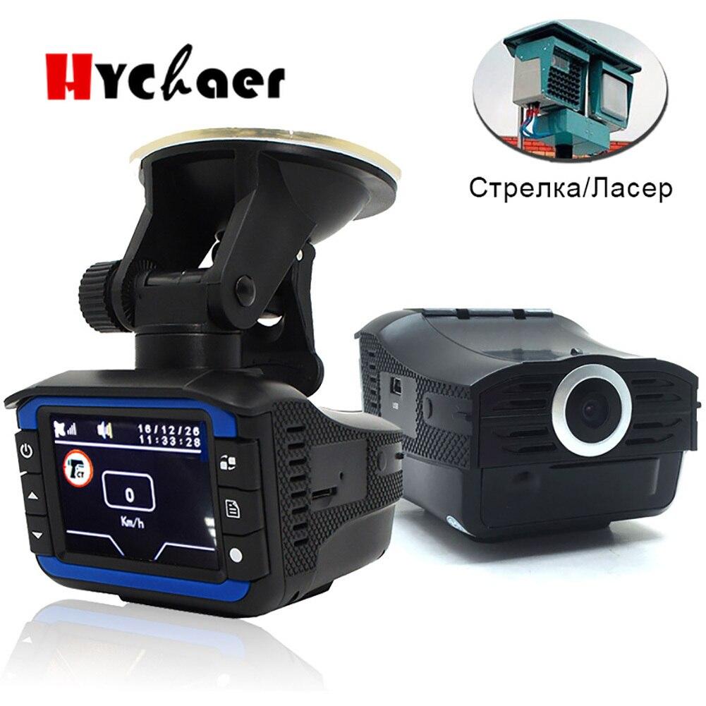 Détecteurs de Radar de voiture enregistreur dvr détecteur de vitesse Russe Voix 3 Dans 1 720 P GPS dash cam à caméra Fixe/vitesse d'écoulement Mesure