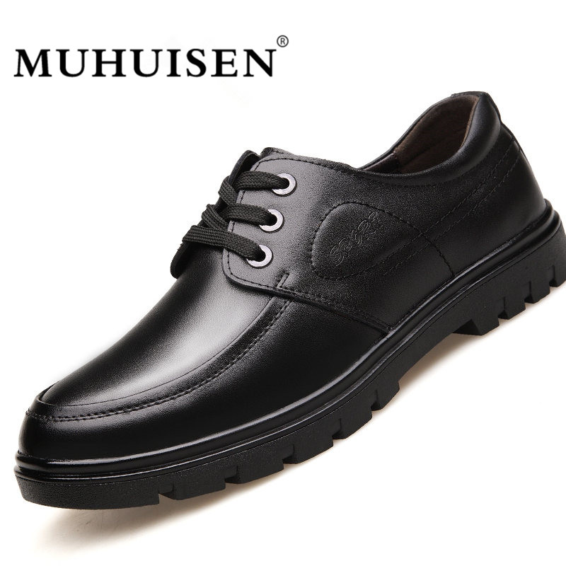 MUHUISEN Brand Autumn Men Casual Shoes Fashion Genuine Leather Breathable Male Footwear Lace-up Designer Flats Shoes brand new arrival handmade genuine leather men flats spring fashion lace up brand casual shoes ege breathable leisure shoes men