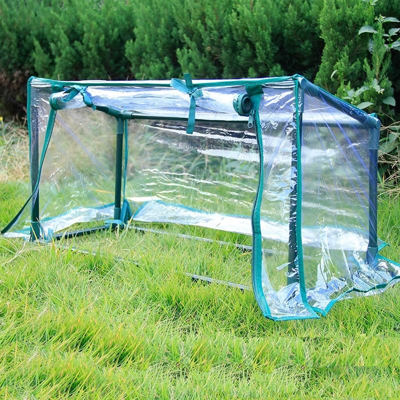 Dik Transparant PVC met Stalen Buis Beschermhoes Shield Hood Voor Planten Tuin Balkon Binnenplaats Wind Regen Preventie-in Plantbedekking van Huis & Tuin op  Groep 1