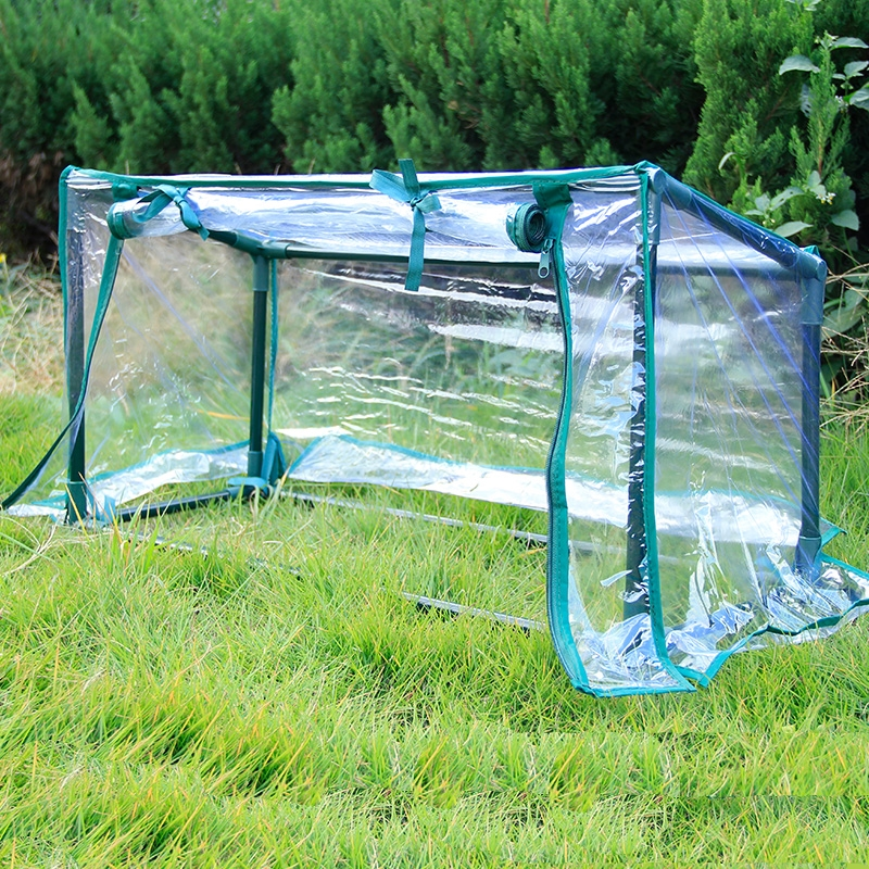 Thick Transparent PVC with Steel Tube Protective Cover Shield Hood For Plants Garden Balcony Courtyard Wind Rain Prevention-in Plant Covers from Home & Garden    1