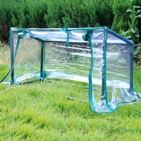 Thick Transparent PVC with Steel Tube Protective Cover Shield Hood For Plants Garden Balcony Courtyard Wind Rain Prevention