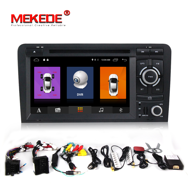 Octa 8 Core Pure Android7.1 2GB RAM 7 Car radio For AUDI A3 S3 RS3 2003 2012 car dvd player with GPS Radio Bluetooth CANBUS