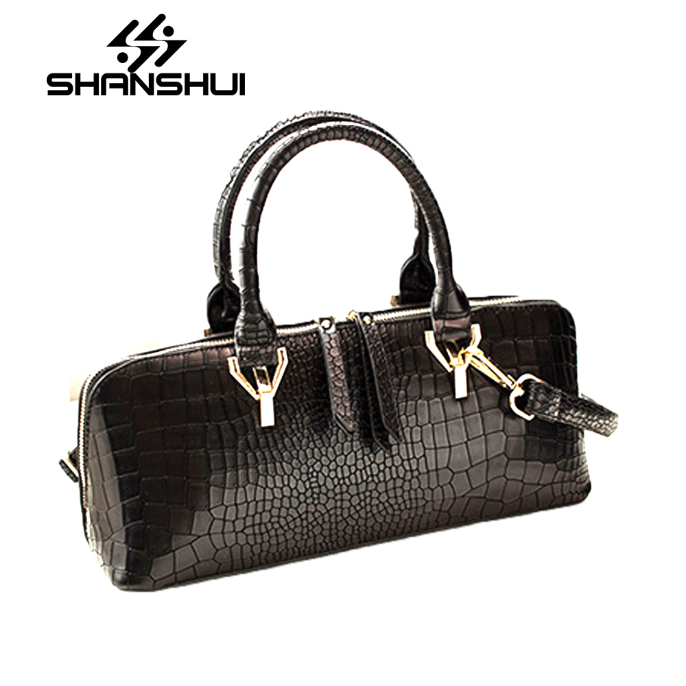 SHANSHUI 2018 Women Shoulder Messenger Bags PU Leather Handbag Female Fashion Crossbody Bag Ladies Solid Small Tote Bag Purse luxury flower fashion design pu leather women s chain purse shoulder bag handbag female crossbody mini messenger bag 3 colors