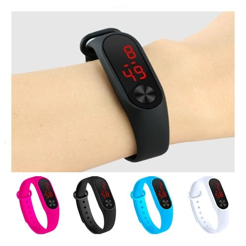 Four Colors Children's Digital Watch Led Sport Watch Casual Silicone For Kids Wa