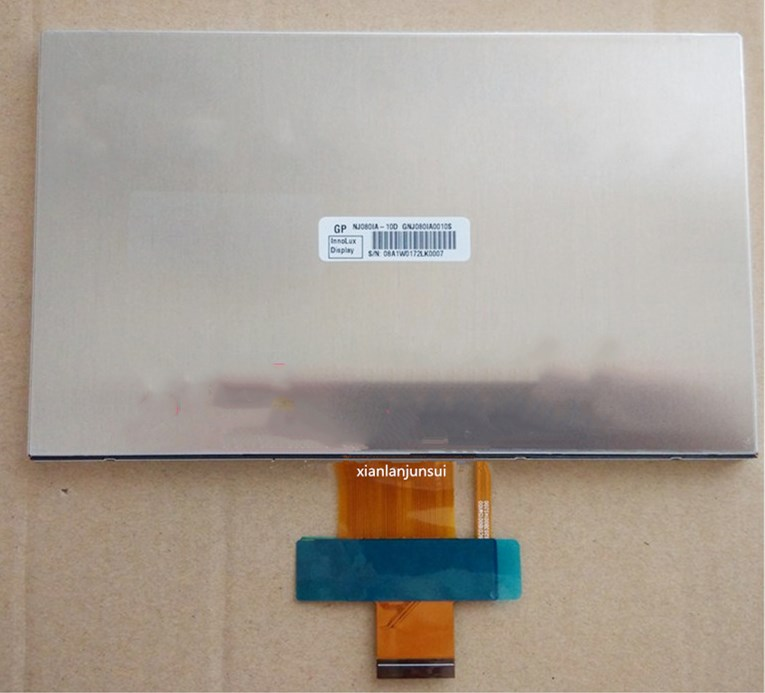 8 inch NJ080IA-10D HD 1024*600 highlight 500, LVDS connection8 inch NJ080IA-10D HD 1024*600 highlight 500, LVDS connection