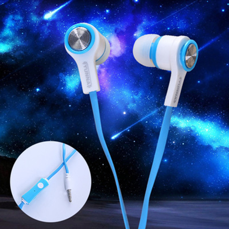 New Sport Earphone Earbuds Noise Isolating Professional in Ear Earphone Headset with Mic for Mobile Phone Pad Universal Colorful