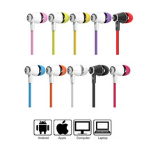 Langsdom jm21 Earphone Brightly Colorful Earphones With Mic 10 Colors Orange Purple Pink Red Black White Yellow Green Blue Rose